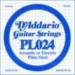 D'addario .024 Plain Steel Guitar String