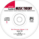 Alfred's Essentials of Music Theory Book 1 & 2 - Ear Training CD