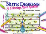Note Designs A Coloring Note Speller PIANO