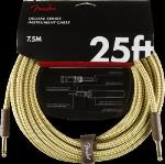 Fender 0990820076 Deluxe Series Instrument Cable, Straight/Straight, 25', Tweed