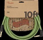 Fender 0990910062 10' Angled Festival Instrument Cable, Pure Hemp, Green