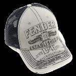 9106647000 Fender® Strat® Trucker Hat, Grey, Onesize