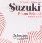 Suzuki Piano School 3 & 4 - William Aide Performs Cd