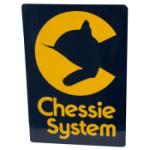 "8"" Die-Cut Metal Sign, Chessie"