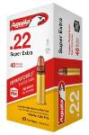 Aguila Ammo 1B220328 Super Extra High Velocity 22 LR 40 gr Copper-Plated Solid Point