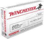 Winchester USA223R3 223 Rem 62 gr Full Metal Jacket (FMJ) 20 Bx/ 50 Cs