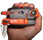 Adventure Medical 01400828 SOL Origin Survival Kit Orange w/Knife