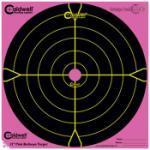 "Battenfeld Tech Caldwell 317-536 Orange Peel Targets Bullseye 12"" Pink/Black 5 Pack"