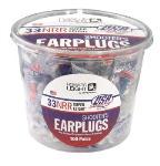 Howard Leight R-03113 HLP Super Leight USA Tub Disposable Foam Ear Plugs Red/White/Blue 100 Pair Per Tub