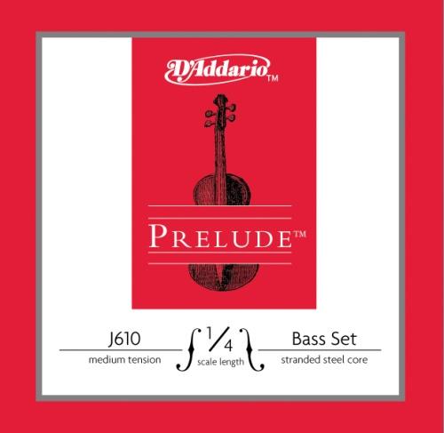 D'Addario Prelude Bass String Set, 1/4 Scale, Medium Tension