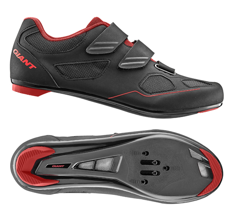 Giant G20352 GNT Bolt Road Shoe Nylon SPD/SPD SL Sole 44 Black/Red