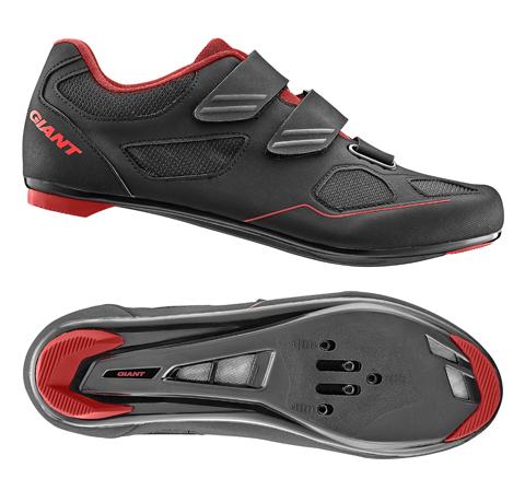 Giant G20355 GNT Bolt Road Shoe Nylon SPD/SPD SL Sole 47 Black/Red