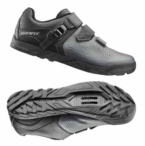 Giant G870001067 GNT Line Off-Road Shoe MES Composite Sole 44 Grey/Black