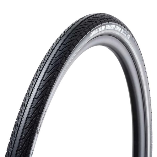 011672-10-700 Goodyear, Transit Tour, Tire, 700x50C, Wire, Clincher, Dynamic:Silica4, S3: Shell, 60TPI, Black