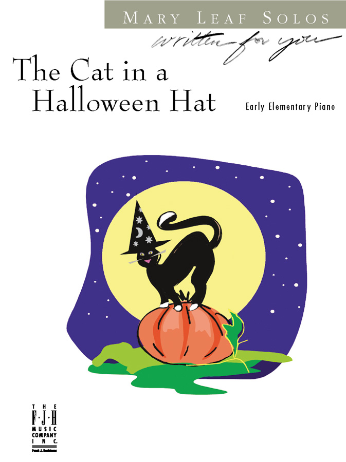 Cat in the Halloween Hat - Piano