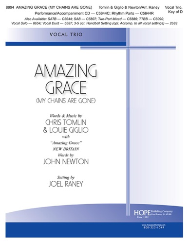 Amazing Grace (My Chains Are Gone) - Vocal Trio and Piano