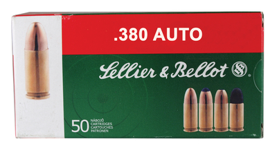 Sellier & Bellot SB380A Handgun Ammunition .380 Auto 92 Grain Full Metal Jacket