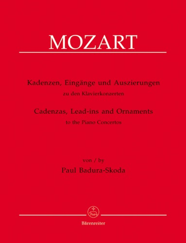 Cadenzas, Lead-ins, and Ornaments from Mozart's Piano Concertos