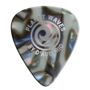 1CAB7-10 Planet Waves Abalone Celluloid Guitar Picks 10 pack, Extra Heavy