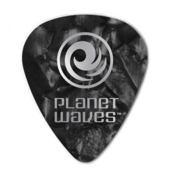 1CBKP7-10 Planet Waves Black Pearl Celluloid Guitar Picks, 10 pack, Extra Heavy