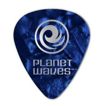 1CBUP7-100 Planet Waves Blue Pearl Celluloid Guitar Picks, 100 pack, Extra Heavy