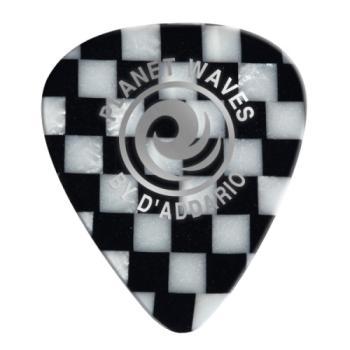 1CCB4-100 Planet Waves Checkerboard Celluloid Guitar Picks 100 pack, Medium
