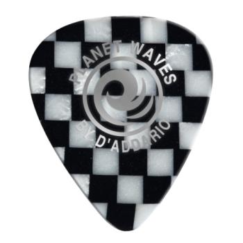 1CCB7-100 Planet Waves Checkerboard Celluloid Guitar Picks 100 pack, Extra Heavy