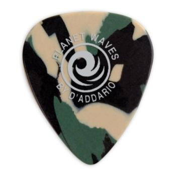 1CCF2-100 Planet Waves Camouflage Celluloid Guitar Picks, 100 pack, Light
