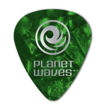 1CGP4-25 Planet Waves Green Pearl Celluloid Guitar Picks, 25 pack, Medium