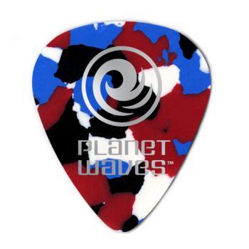 1CMC2-100 Planet Waves Multi-Color Celluloid Guitar Picks, 100 pack, Light