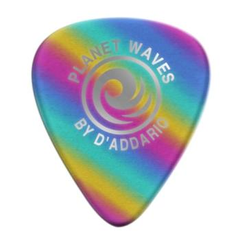 1CRB4-100 Planet Waves Rainbow Celluloid Guitar Picks 100 pack, Medium