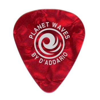 1CRP6-25 Planet Waves Red Pearl Celluloid Guitar Picks, 25 pack, Heavy