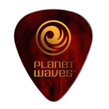 1CSH4-25 Planet Waves Shell-Color Celluloid Guitar Picks, 25 pack, Medium