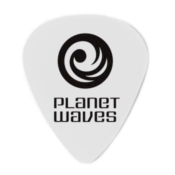 1CWH2-10 Planet Waves White-Color Celluloid Guitar Picks, 10 pack, Light