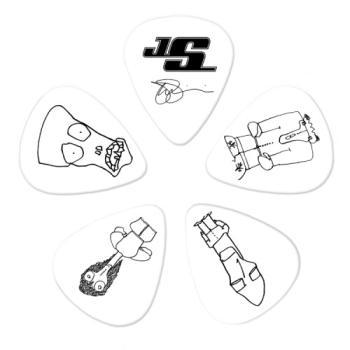 1CWH6-10JS Planet Waves Joe Satriani Guitar Picks, White, 10 pack, Heavy