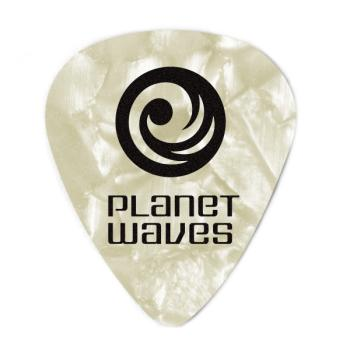 1CWP7-10 Planet Waves White Pearl Celluloid Guitar Picks, 10 pack, Extra Heavy
