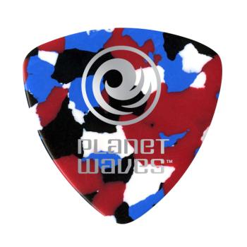 2CMC2-10 Planet Waves Multi-Color Celluloid Guitar Picks, 10 pack, Light, Wide Shape