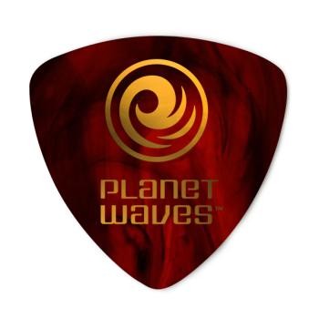 2CSH6-100 Planet Waves Shell-Color Celluloid Guitar Picks, 100 pack, Heavy, Wide Shape