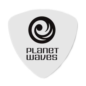 2CWH2-25 Planet Waves White-Color Celluloid Guitar Picks, 25 pack, Light, Wide Shape