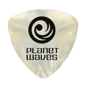 2CWP2-10 Planet Waves White Pearl Celluloid Guitar Picks, 10 pack, Light, Wide Shape