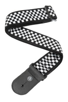 50C02 Planet Waves Woven Guitar Strap, Check Mate