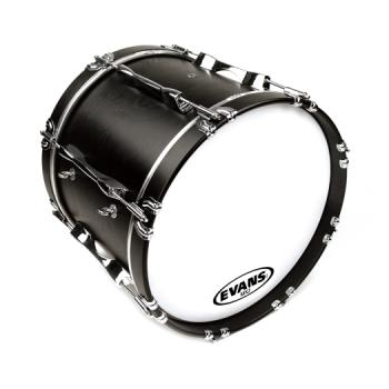 EVANS BD18MX2W MX2 White Marching Bass Drum Head, 18 Inch