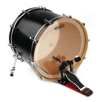 """Evans 20"""" Clear EQ3 2 Ply Bass Drum Head"""