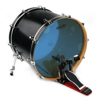 EVANS BD22HB Hydraulic Blue Bass Drum Head, 22 Inch