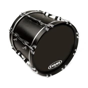 BD22MX1B Evans MX1 Black Marching Bass Drum Head, 22 Inch
