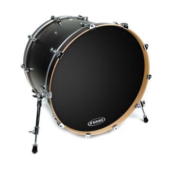 """Evans 24"""" EQ1 Resonant Bass Drum Head - Black"""