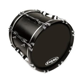 EVANS BD28MX2B MX2 Black Marching Bass Drum Head, 28 Inch