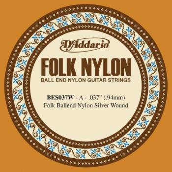 Daddario BES037W A - 5th Ball End Silverplated Wound Nylon Guitar String