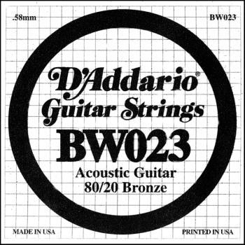 Daddario .023 Bronze Wound Guitar String