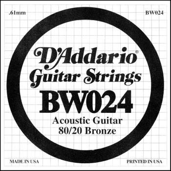 Daddario .024 Bronze Wound Guitar String